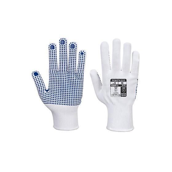 Polka Dot Luva Nylon A110 White / Blue