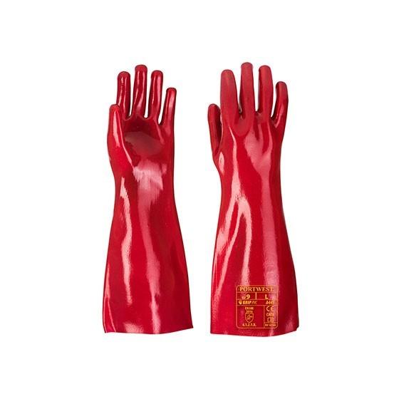 Gant PVC A445 Rouge