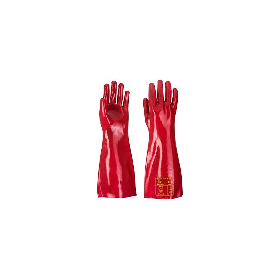 Glove PVC A445 Red