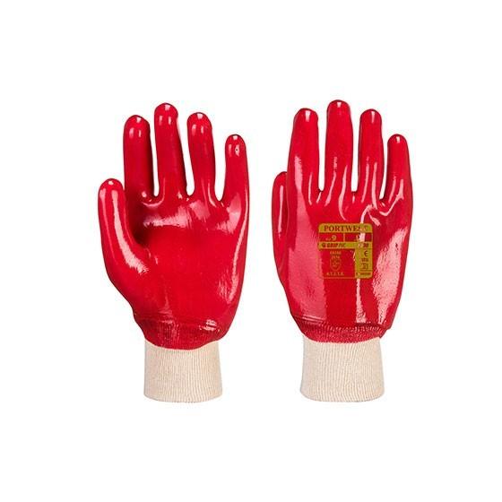 Gants en PVC avec manchette élastique A400 Rouge