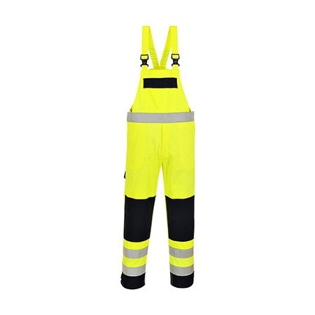 Multi visibility dungarees FR63 Yellow/Marine