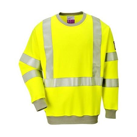 High Visibility Flame retardant and Antistatic Sweatshirt FR72 Yellow