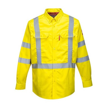 Bizflame 88/12 FR high visibility shirt FR95 Yellow