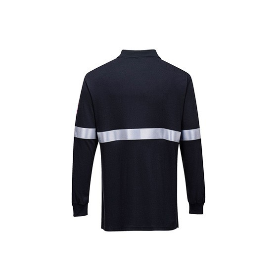 Lightweight and Antistatic Long Sleeve Polo with Reflective Tape FR03