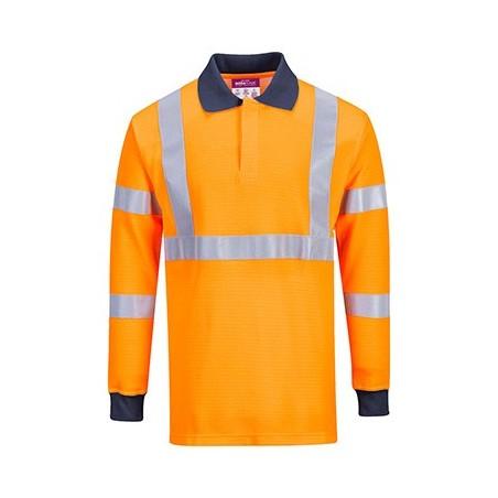 Long sleeve polo Fireproof RIS FR76 Orange