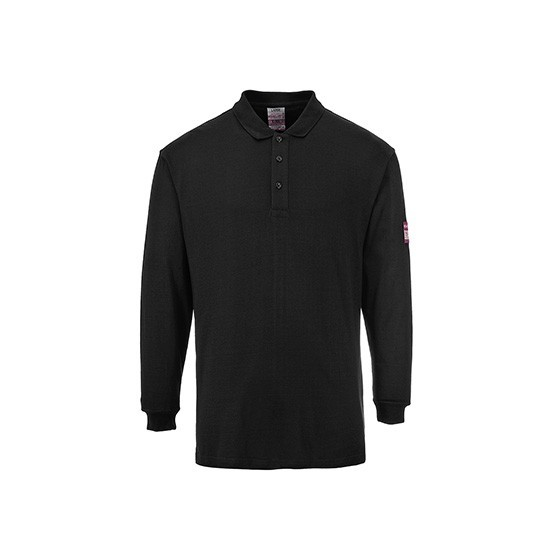 Flame-Resistant and Antistatic Long Sleeve Polo FR10