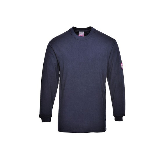 Flame-Resistant and Antistatic Long Sleeve T-Shirt FR11 Navy