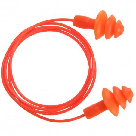 Reusable earplug with cord TPR EP04 (50 pairs)