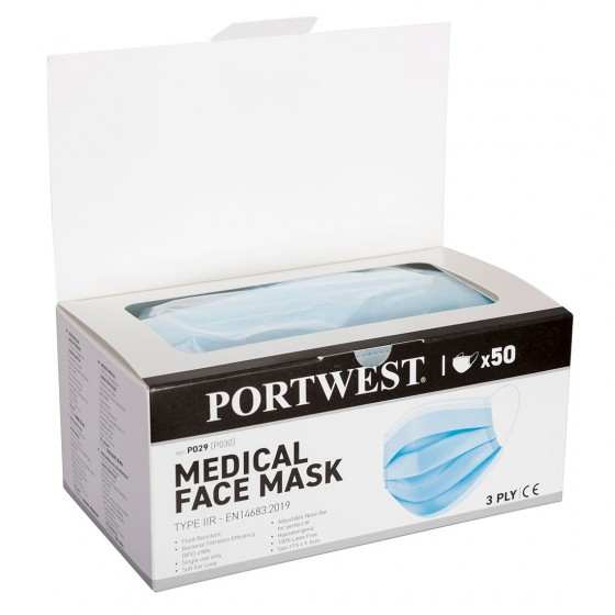 Medical mask dispenser box type IIR P029 (Pack 50 pcs.)