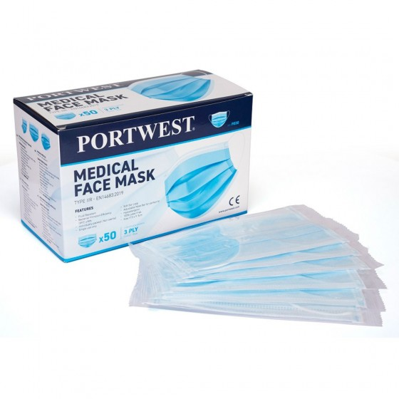 Medical Mask Type IIR (Individually Packed) P030 (Pack 50 pcs.)
