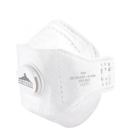 EAGLE folding mask with valve, dolomite FFP3 P391 (10-pack)