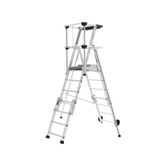 Individual platform with folding handrail Sherpascópico 5-7 Steps