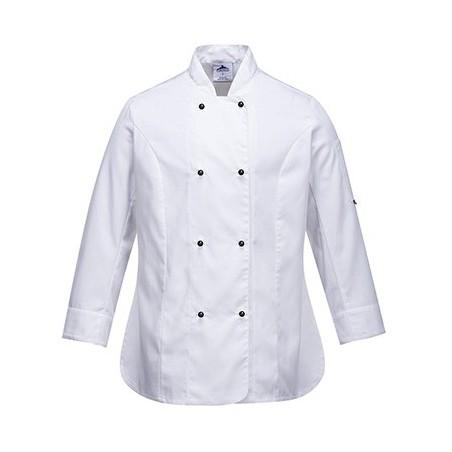 Rachel Ladies Long Sleeve Chefs Jacket C837