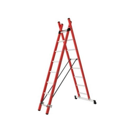Isolated 2-section combination ladder