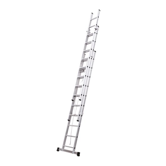 3 section rope operated extension ladder