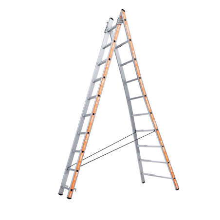 Pronor Combination 2 Sections Ladder with Straps