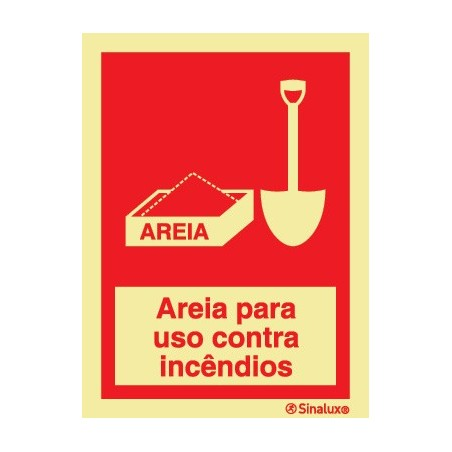 Sand for firefighting use