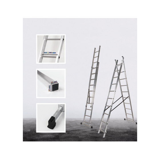 2 section transformable Classik ladder