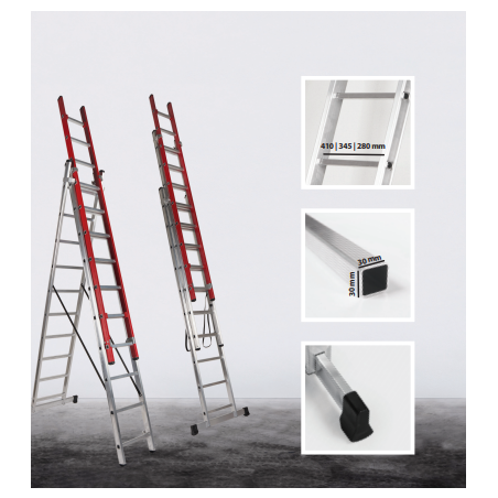 Ladder Electra 3 sections