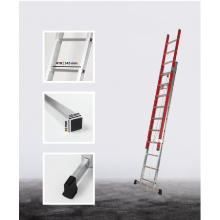 2 section rope operated Elecra extension ladder