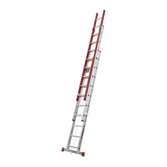 3 section rope operated Electra extension ladder