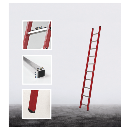 Fiberglass single ladder