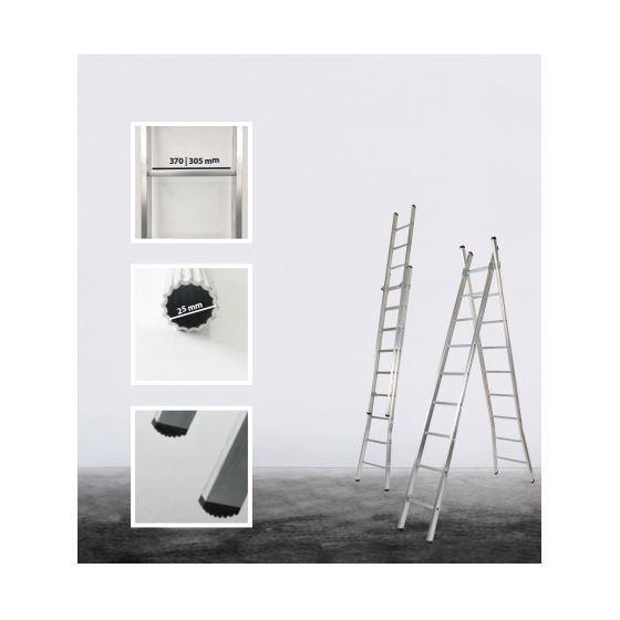 2 section transformable Eco ladder