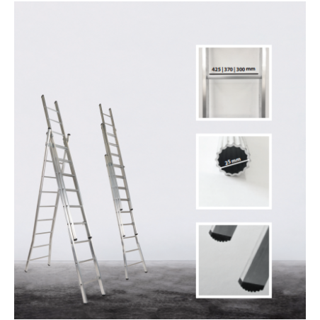 3 section transformable Eco ladder