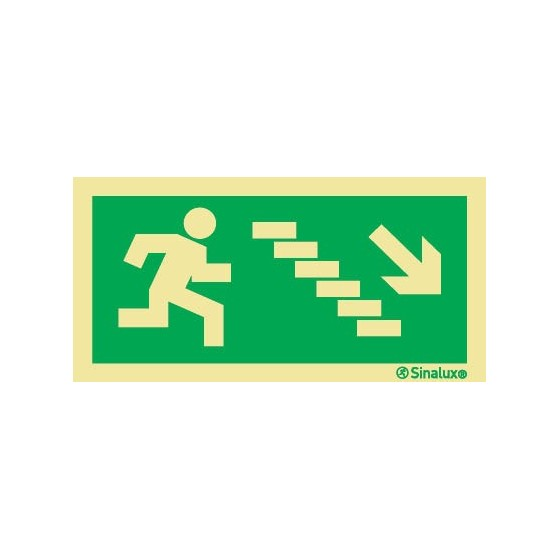 EXIT STAIRS RIGHT DOWN