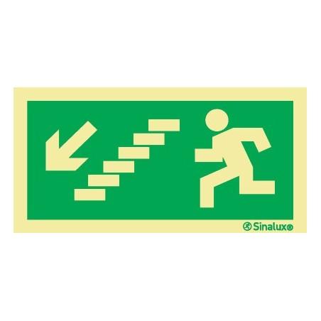 DIAGONAL LEFT STAIRCASE EXIT