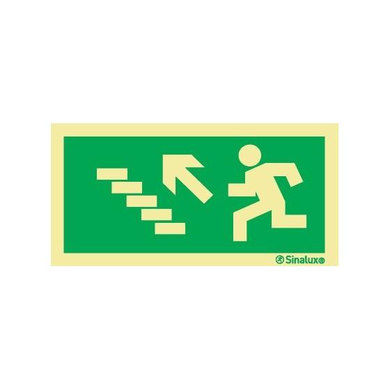 LEFT DIAGONAL STAIRCASE EXIT UPWARDS