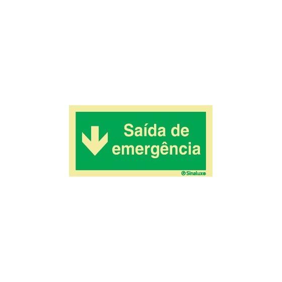 EMERGENCY EXIT BELOW