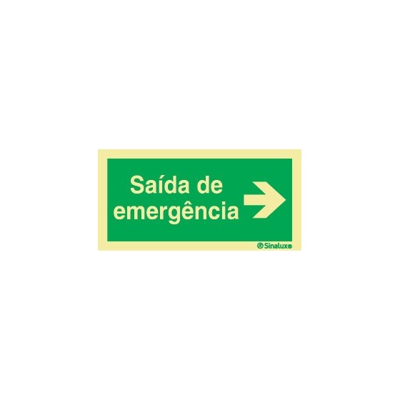 HORIZONTAL SIGN RIGHT EMERGENCY EXIT