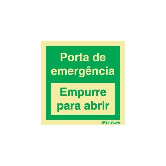 EMERGENCY DOOR (Push to open)