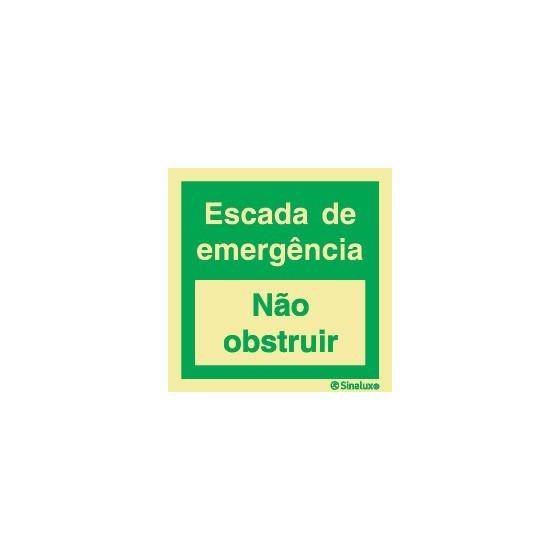 ESCADA DE EMERGÊNCIA (Não obstruir)