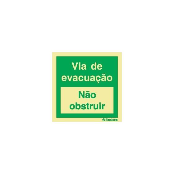 EVACUATION WAY (Do not obstruct)