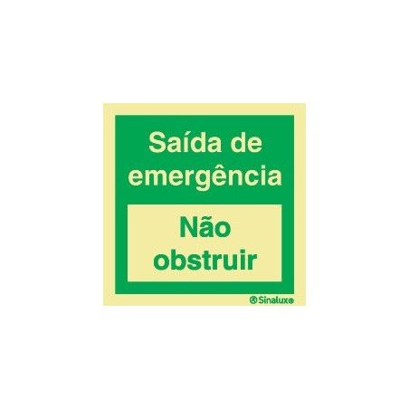 EMERGENCY EXIT (Do not obstruct)