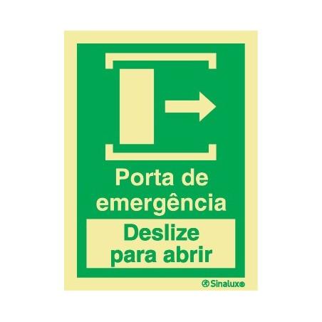 EMERGENCY DOOR SLIDE TO OPEN RIGHT