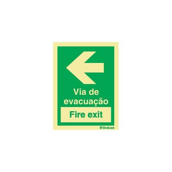 VIA DE EVACUAÇÃO (FIRE EXIT) ESQUERDA