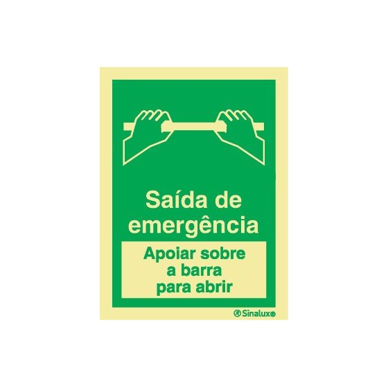 EMERGENCY EXIT (LEAN ON THE BAR TO OPEN)