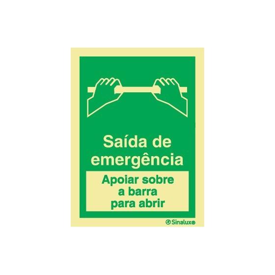 SAÍDA DE EMERGÊNCIA (APOIAR SOBRE A BARRA PARA ABRIR)