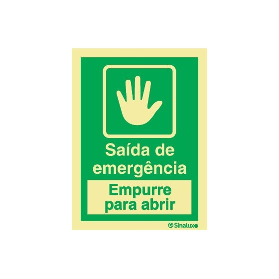 SAÍDA DE EMERGÊNCIA (EMPURRE PARA ABRIR)