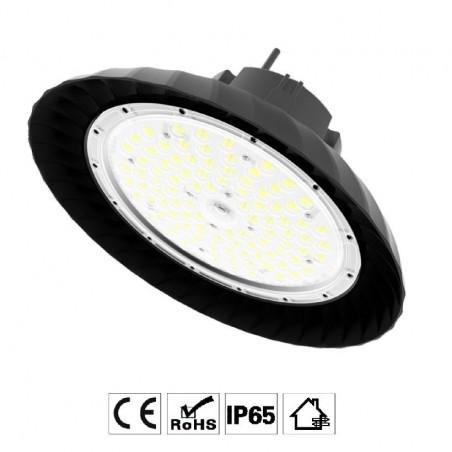 Luminária LED Espiral para Iluminação Industrial de Alto Brilho