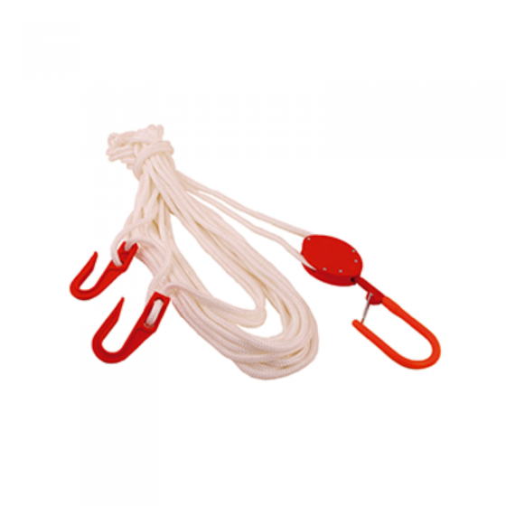 50m Service Rope With 2 Hooks Insulated And Insulated Pulley (H019)