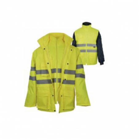 Coat 4 In 1 High Visibility
