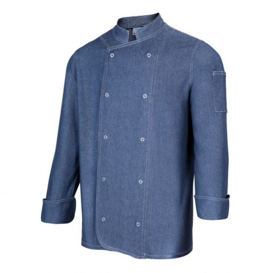 Denim Chef Jacket Long Sleeves 405207