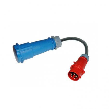 CEE Adapter (3F + N + TT) 16- EV Portable SAE J1772
