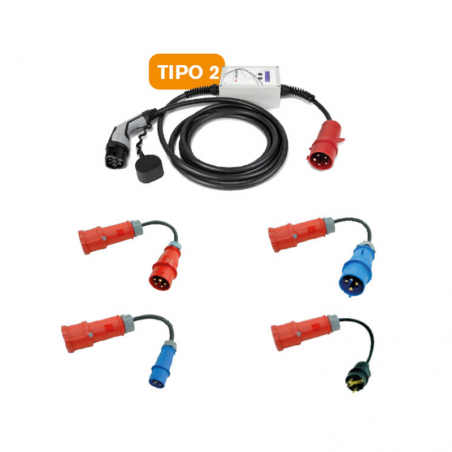 Type 2 Portable Electric Vehicle Charging Kit (IEC 62196, Mennekes)