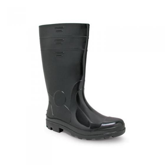 Black PVC High Boots