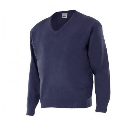 V-neck Knit Sweatshirt